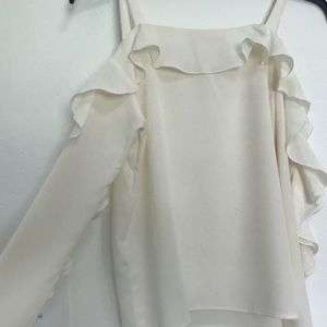 Cream colored Top with Ruffles
